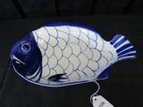 Dansk Blue Fish Design Dish