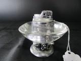 Vintage 40's Era Table Lighter, Ornate Base by Ronson