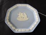 Wedgwood Ceramic China Dish w/ Grape Leaf, Grecian Pegasus Sprigged Relief