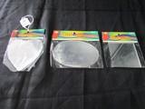 3 Mini-Mirrors Heart, Oval, Square