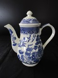 Churchill England Willow Ceramic Asian Motif Carafe w/ Lid