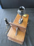 Vintage/Antique The Dean Electric Co. Wall Mounted Telephone in Wooden Case