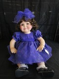 Marie Osmond  © 2007 #16/500 Doll Porcelain Head/Hands/Feet Purple Dress w/ Bow