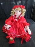 Marie Osmond © 2007 #0383/2000 Doll Porcelain Head/Hands/Feet Red Dress w/ Bow