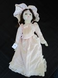 Vintage Porcelain Head/Hands/Feet Doll w/ Pink Dress