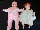 2 Vintage Baby Dolls Porcelain Head/Hands/Feet