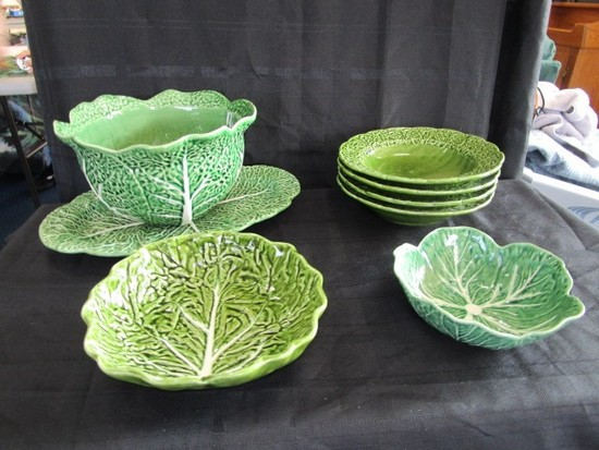 Bordello Pinheiro Ceramic Cabbage Design Centerpiece Bowl