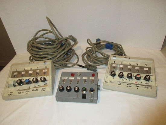 Lot - 2 Cooley Connections & Other Control Boxes w/ Cables