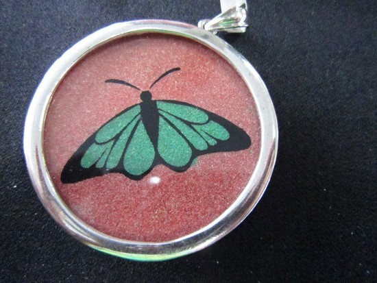 Gemartini Butterfly Pendant in 925 Case