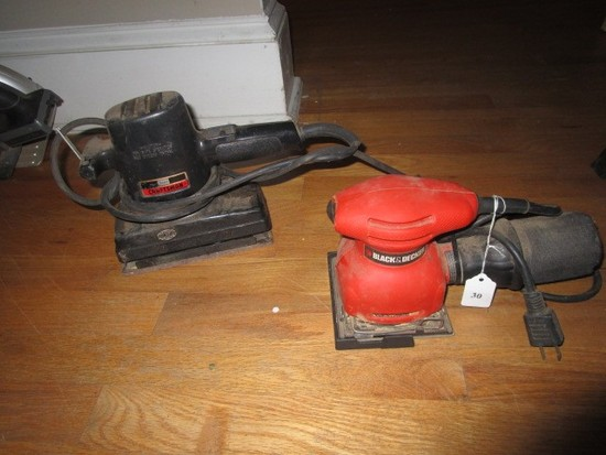 Sears Craftsman Sander, Black & Decker Sander