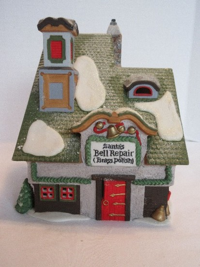 "Department 56 North Pole Series Heritage Village Collection ""Santa Bell Repair"""