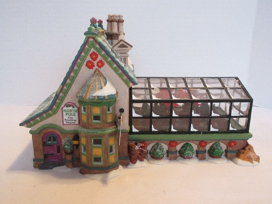 "Department 56 North Pole Series Heritage Village Collection ""Mrs. Claus' Greenhouse"""