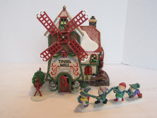 "Department 56 North Pole Series Heritage Village Collection ""Northern Lights Tinsel Mill"""