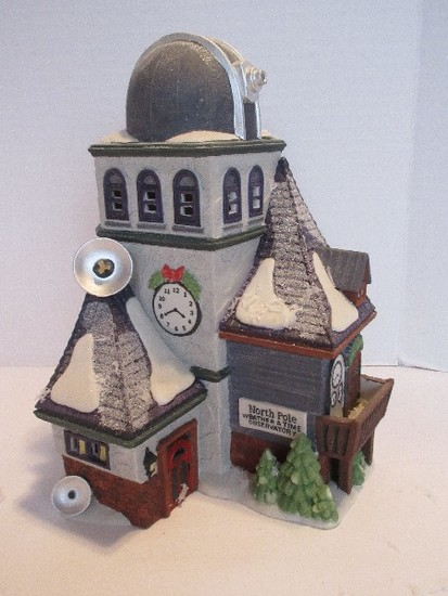 "Department 56 North Pole Series Heritage Village Collection ""Weather & Time Observatory"""