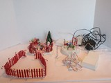 Lot - Department 56 Heritage Village Collection 'Animated' Playground, Candy Cane Fence