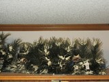 Lot - 3 Flocked Lighted Pine Branches