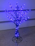 Spectacular 4' Metal LED Tree w/ 56 Multi-Function Light Patterns & Remote by Santa's Best