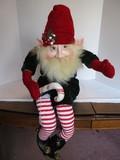 Fantasy Creations by Antoinette Digregorio Sitting Santa's Elf w/ Bell Cap