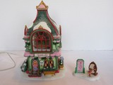 2 Piece-Department 56 North Pole Heritage Village Collection-ANIMATED