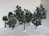 8 Department 56 Village Collection Pine Trees