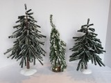 Lot - Department 56 & Other Village Flocked Trees