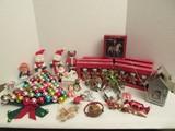 Super Christmas Decorations Lot - Whimsical Ornaments, Snowmen Figurines
