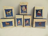 7 Hallmark Keepsake Series Edition Collectors Ornaments Series Numbers 2-8