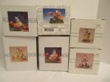 6 Charming Tails by Fitz & Floyd Collectible Autumn & Halloween Figurines