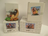 4 Charming Tails by Fitz & Floyd Collectible Fall Harvest & Thanksgiving Figurines