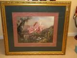 Crown Fine Art Hummingbirds & Orchid Plant Tropical Jungle Background Gorgeous Print
