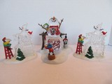2 Department 56 North Pole Sign Heritage Village Collection Figurines