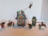 Lot - Department 56 North Pole Series Heritage Village Collection -ANIMATED