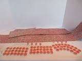 Lot - Department 56 Peppermint Walkway & Vinyl Red & Green Cobblestone, Luminary Bags