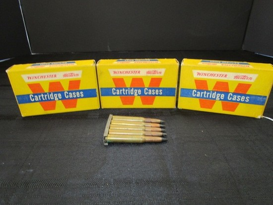 3 Winchester Western Cartridge Cases 243 Winchester Unprimed Cases