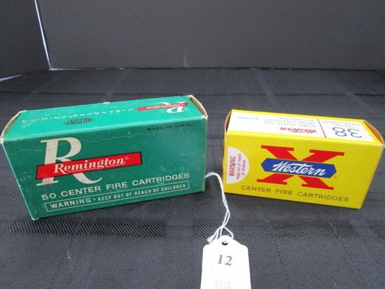 Remington Center Fire Cartridges 40, .38 Special Western Nickel Plated Case