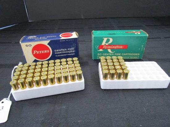 20 Remington Center Fire Cartridges in Box, Peters 50 Center Fire Cartridges