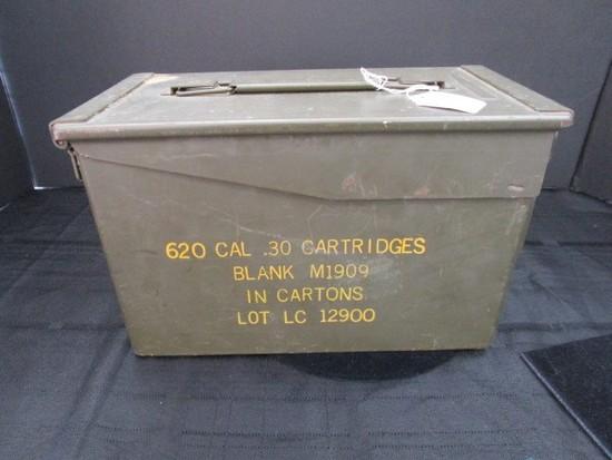 620 Cal .30 Cartridges Blank M1909 in Cartons Green Metal Case