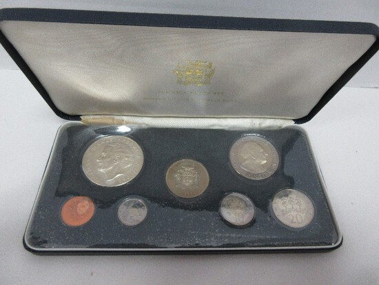 Franklin Mint 1973 Jamaica Proof Set Coin of The Realm