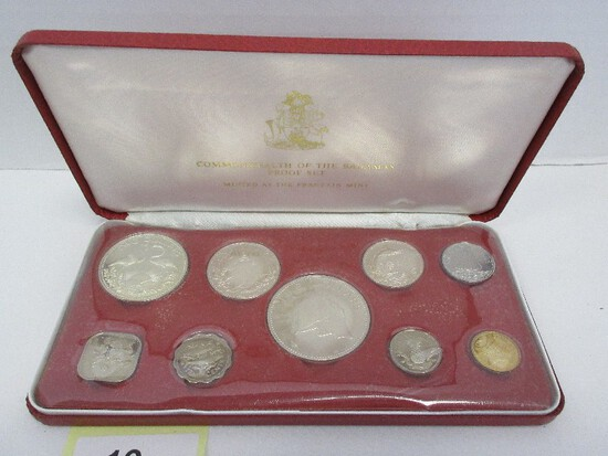 1974 Commonwealth of The Bahamas Coinage Proof Set w/ CoA in Case