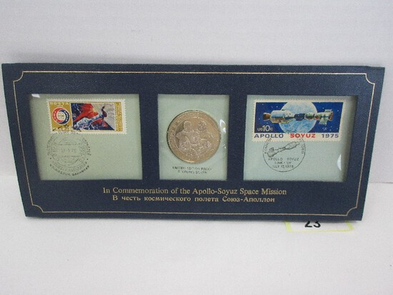 Partners in Space Commemorative Limited Sterling Silver Edition Proof Medal