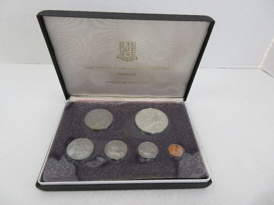 1973 First Official Coinage The British Virgin Islands Proof Set Minted at Franklin Mint w/ CoA