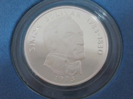 1973 Panama 20 Balboas Sterling Silver 2000 Grains Coin w/ CoA