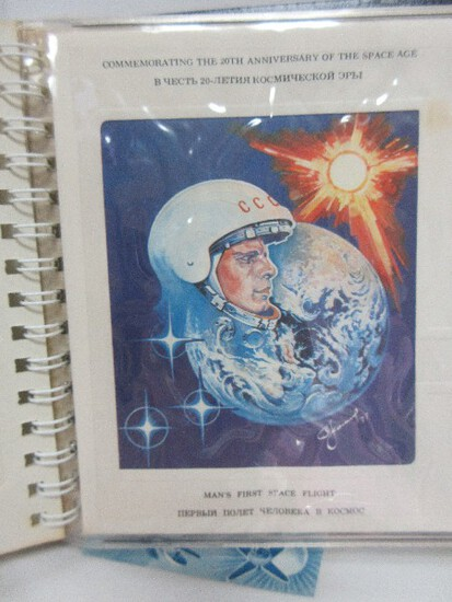Franklin Mint 20th Anniversary of The Space Age First Day Cover Collection in Album