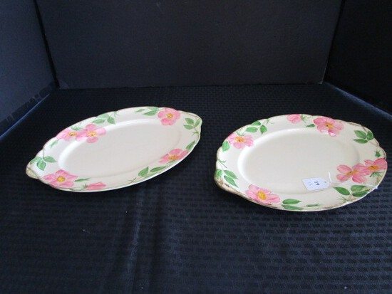 Franciscan Earthenware Desert Rose Pattern 2 Serving Platters