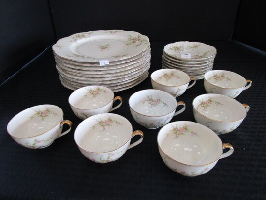 Theodore Haviland New York Rosalinde Ceramic Lot - Rose Pattern