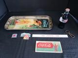 Vintage Coca-Cola Lot - Coca Cola Tape Measure, Ruler, Vintage 1951 Advert