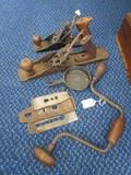 Vintage/Primitive Tool Lot - Metal/Wood Plainer No.11 Shelton Metal/Wood Planer