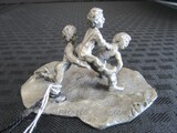 J. Pacheco Heritage Pewter Décor Boys Playing Hopscotch