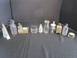 Misc. Vintage Bottle Lot - Hobnail Perfume Bottle, Sloan's Liniment Bottle