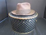 Vintage Templeform Hats Fedora w/ Leather Inlay